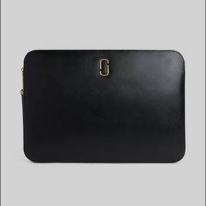 """Marc Jacobs Snapshot 15"""" Leather Laptop Sleeve"""